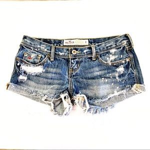 Hollister Distressed Cut Off Jean Shorts size 0